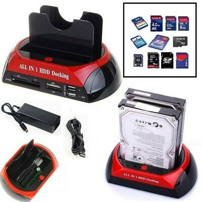 "Docking Station Per Hard Disk All In 1 Sata Ide 3,5"" 2,5 Player Hdd Box Case Ms"