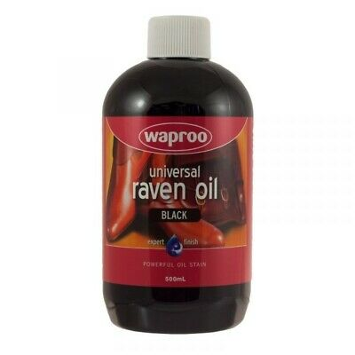 Waproo Raven Oil - Leather Dye Colour Change Shoes Boots Saddlery 500ml Black
