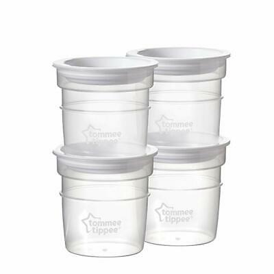 Tommee Tippee Closer To Nature Milk Storage Bottle Lids & 60ml Pots x 4