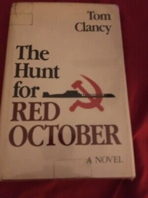 """The Hunt for Red October""-Clancy-1984  SIGNED True 1st Ed, 1st Printing-With DJ"