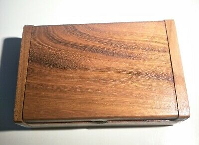 Wooden Teak Handmade Box Trinket Storage Keepsake Jewelry Gift Card Holder Wood