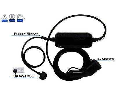 Portable EV Charging Cable Type 2 AJP charger 5 metre cable UK 3 plug New