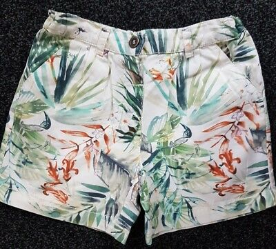 Girls Next Tropical Cotton Summer Shorts & Top Outfit Age 3-4 Yrs Excellent