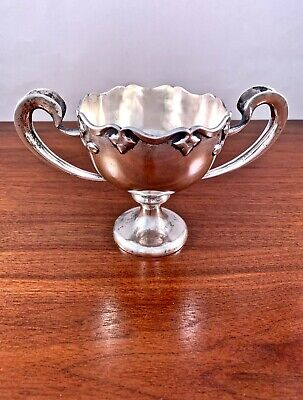 Chinese Export Sterling Silver Arts & Crafts Style Loving Cup / Trophy: Zs 其昌