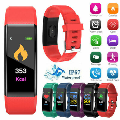 Smart Watch Bracelet Bluetooth Heart Rate Blood Pressure Monitor Fitness Tracker