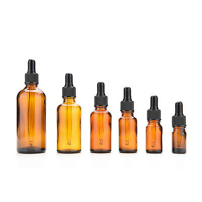 5-100ml Amber Glass Reagent Liquid Pipette Bottle Eye Dropper Drop Aromathe XL