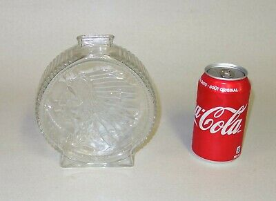 VINTAGE LARGE GLASS PIGGY BANK ANCHOR HOCKING NATIVE INDIAN w/ BUFFALO EACH SIDE