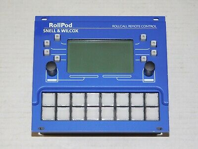 Snell & Wilcox RollPod 16 Roll Call Remote Control IQ Modular Interface Panel