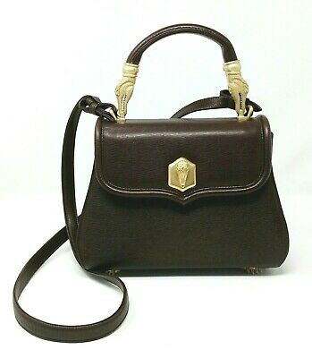 Barry Kieselstein Cord Trophy Chocolate Leather Small Tote Hand Bag VTG RARE!