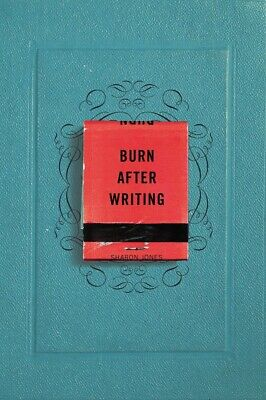 Burn After Writing by Sharon Jones (English) Paperback Book Fast Shipping!