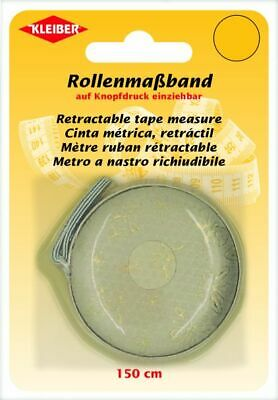 Kleiber Roller Tape Measure 150 cm Long with cm Scale 930-37 Gold-Beige