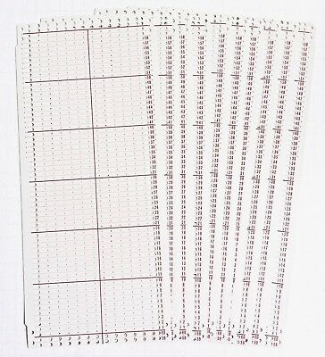 Silver Reed SK155, PS150 CHUNKY 12 ST BLANK PUNCHCARDS W/ GRAPH PAPER -10 Cards