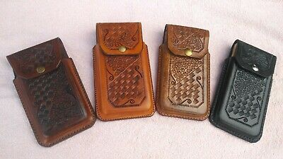 Heavy Duty Leather phone holster pouch holder case for android or iphone