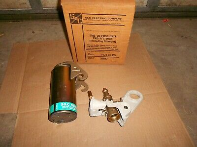 S&C ELECTRIC CO. 3097 SML-20 FUSE UNIT END FITTINGS & SILENCER   Nos  USA
