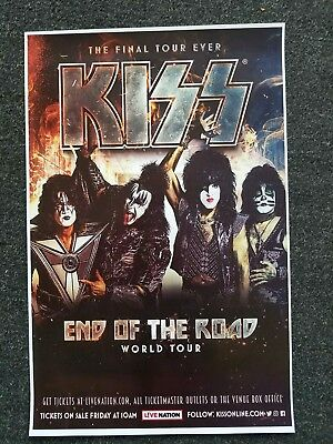 KISS 11x17 promo End Of the Road 2019 tour concert poster tickets shirt lp
