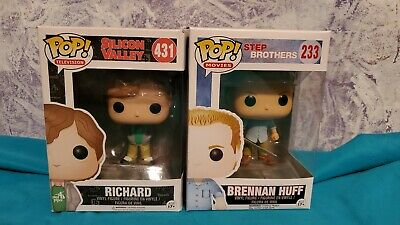 Funko POP! STEP BROTHERS Brennan Huff #233 & Sillicone Valley Richard VAULTED