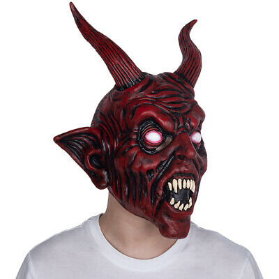 Scary Halloween Devil Latex Mask Demon Prop Satan Diablo Halloween Party Mask
