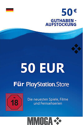 50€ Eur PlayStation Network Card - Sony PSN PS3 PS4 PS Vita 50 Euro Guthaben DE*