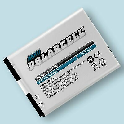 PolarCell Battery for Samsung Galaxy Ace GT-S5830 Gio GT-S5660 EB494358VU