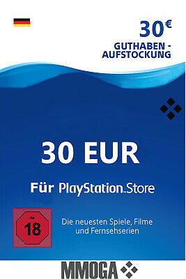 30€ PSN DE Playstation Network Code Card - 30 Euro PS4, PS3, PS Vita Guthaben