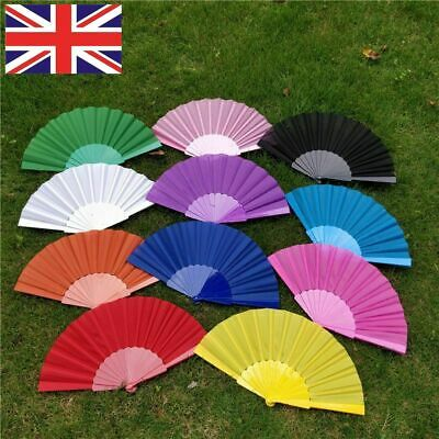 Spanish Fabric Folding Hand Held Fans Portable Fans Dances Fan Wedding Party