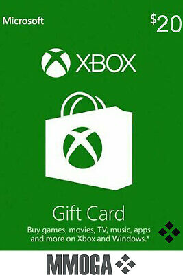 Xbox Live Gift Card 20 USD - $20 US Dollars USA Microsoft One 360 Guthabn Code*