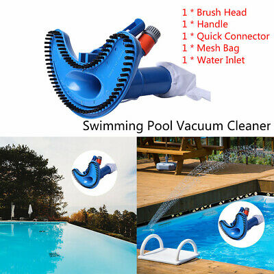 New Mini Jet Pond Spa Vacuum Cleaner + 5 pcs Pole Swimming Pool Hot Tub Super UK