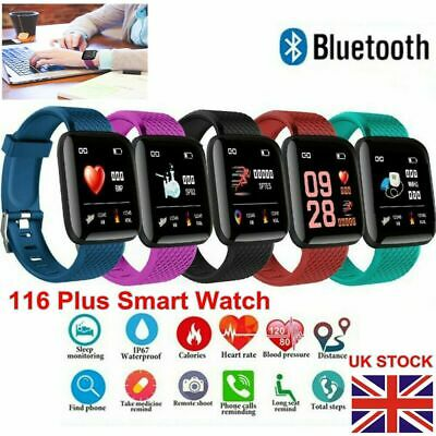 Smart Watch Band Tracker Fitness Sport Activity Fit bit iOS & Android Waterproof