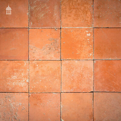 "Batch of 578 Reclaimed Red 9"" x 9"" Quarry Tiles - 30 Square Metres"