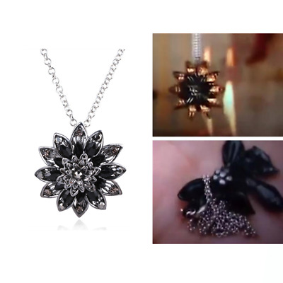 Spider-Man: Far From Home Black Dahlia Necklace Brooch Cosplay Prop Jewelry