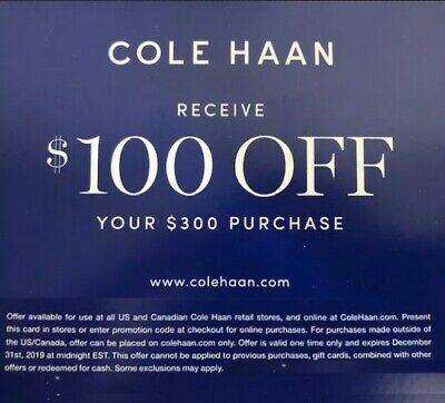 Cole Haan Discount Code: Receive $100 off of Your $300 Purchase
