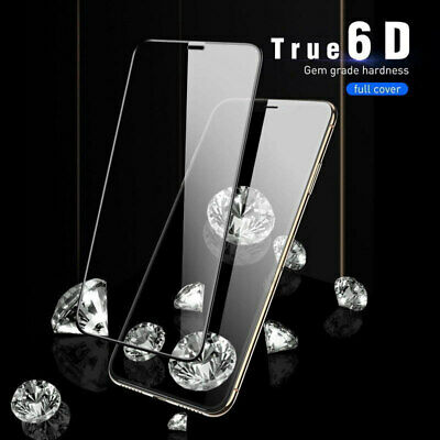 2Pcs 6D Tempered Glass Film For iPhone XS MAX XR X 9H Hardness Protector Screen