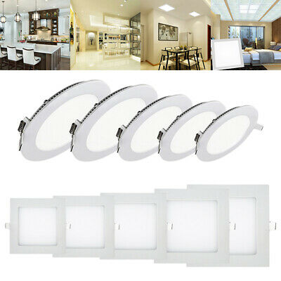 Downlight Dimmable Ceiling Led Recessed Panel Flat Light Ultra Slim Lamp Ip44 Uk