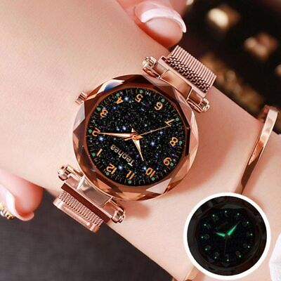 Starry Sky Women Wrist Watch For Ladies Top Brand Luxury Rose Gold Magnetic