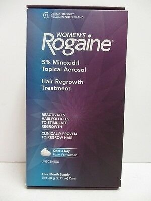 Women's Rogaine Unscented Topical Aerosol Foam 4 Month Supply Exp 8/19 Nt 5715
