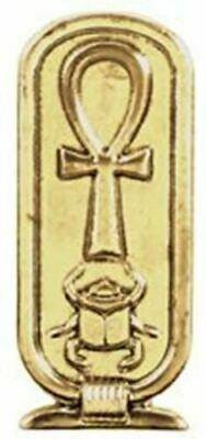 "Doranne Ancient Egyptian Ankh Cartouche Pendant Lead Free Pewter Jewelry 1.5""L"