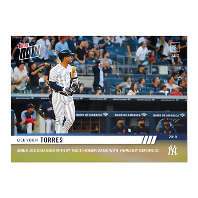 2019 Topps NOW Gleyber Torres #626 New York Yankees Just 408 Made