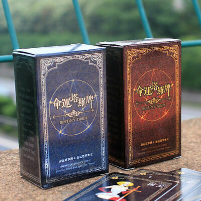 72 cards/case Destiny Tarot Fortune Telling Cards Table Kids Baby Games S3B P7I7