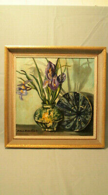 Helen Beaumont Mendocino Artist - Oil on Canvas Signed Untitled Still Life 15x15