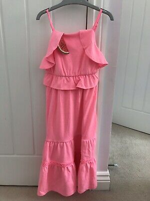 Girls BNWT Tropical Print Tiered Maxi Dress age 4 5 6  Holiday Matalan AN