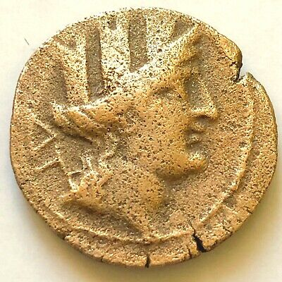 Rare Authentic Greek Coins, Cilicia Korykos (1st century BC) Hermes AE 7,6gr XF