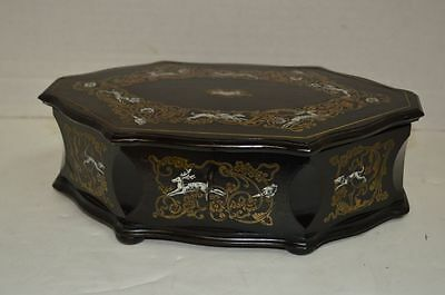 Antique French Boulle Style Mother of Pearl Inlaid Box