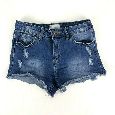 RSQ Jeans Vince Mid-Rise Blue Shorts Girls Size 16