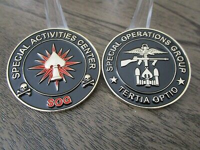 CIA SAD SOG Special Activities Center Special Operations Group Challenge Coin