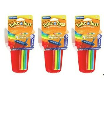The First Years Straw Cup, Take and Toss, 10 Ounce, 12-Count