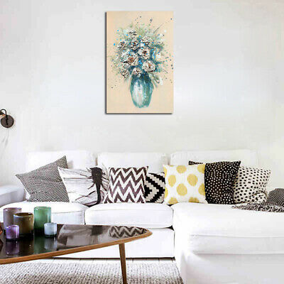 Abstract Oil Painting Canvas Print Wall Art Picture Colorful Flower In Vase