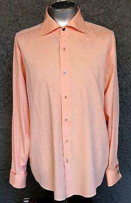 Dinner Shirt, apricot, polyester/ cotton 1970's by 'Benni', USA size 2XL