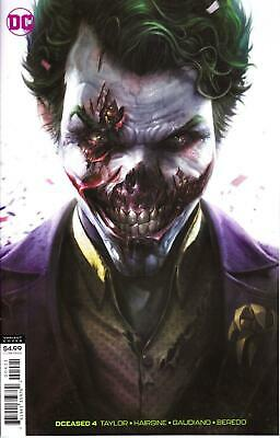 Dceased #4 Mattina Variant Card Stock Joker Dc Zombies