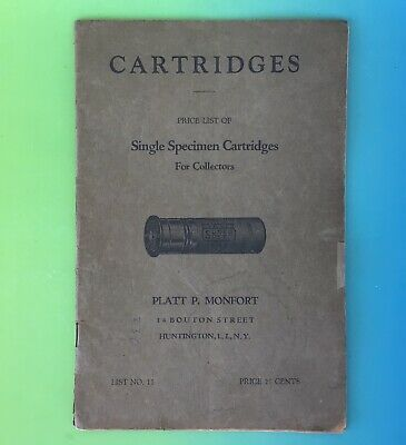 Vintage Cartridges Book, Price List by Platt P. Monfort