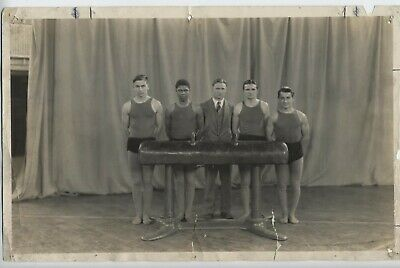 RARE Real Photo Ypsilanti, Michigan HIGH SCHOOL INTEGRATED GYM! AFRICAN AMERICAN